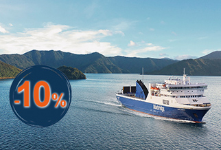 10% rabatt for New Zealand seilinger med Bluebridge.